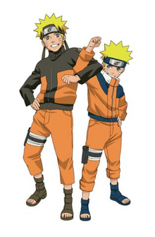 Young and old Naruto