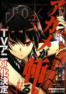 Gangan Joker Issue January 22, 2014 Akame ga Kill