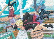 Team Konohamaru (Naruto Gaiden Ch 7 Spread Cover)