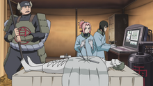 Sakura performing surgery