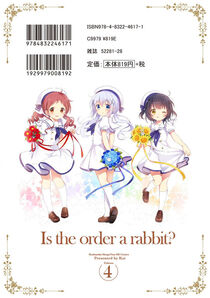 Is the Order a Rabbit Vol 4 Back Cover