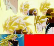 Goku.s super saiyan 3 transform