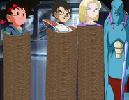Goku jr tarble android 18 tied up