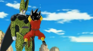 Cell grab hero by the hair
