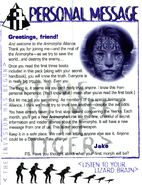 Animorphs Alliance flash issue 1 Personal message Jake