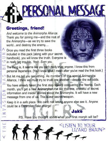 File:Animorphs Alliance flash issue 1 Personal message Jake.jpg