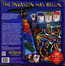 Animorphs the invasion game box back cover bottom