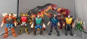 Animorphs transformers group shot 6 plus tri rex visser three