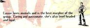 Cassie bio from animorphs gameboy booklet