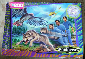 Marco wolf animorphs hasbro jigsaw puzzle