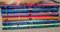 Animorphs danish books spines
