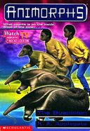 Animorphs 24 the suspicion front cover with watch tv logo