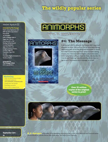 File:The Message relaunch book ad from scholastic paperback catalog fall 2011.jpg