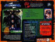 Animorphs VHS Australian volume 1.3 insided poster tobias fact file