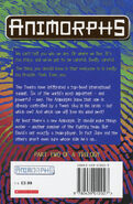 Animorphs 21 the threat UK back cover