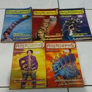 5 animorphs books indonesian