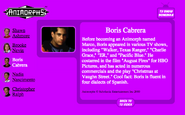 Boris cabrera on nick.com bio