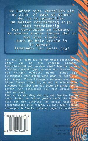 File:Animorphs 8 the alien Het Buitenaardse Wezen dutch back cover.jpg
