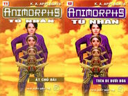 Animorphs 6 the capture Tù nhân vietnamese covers books 11 and 12