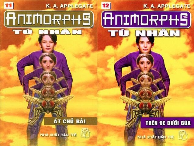 File:Animorphs 6 the capture Tù nhân vietnamese covers books 11 and 12.jpg