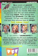 Animorphs 7 the stranger L inconnu french back cover