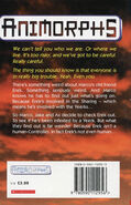 Animorphs 10 the android UK back cover