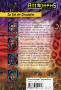 Animorphs mm2 time of dinosaurs german back cover