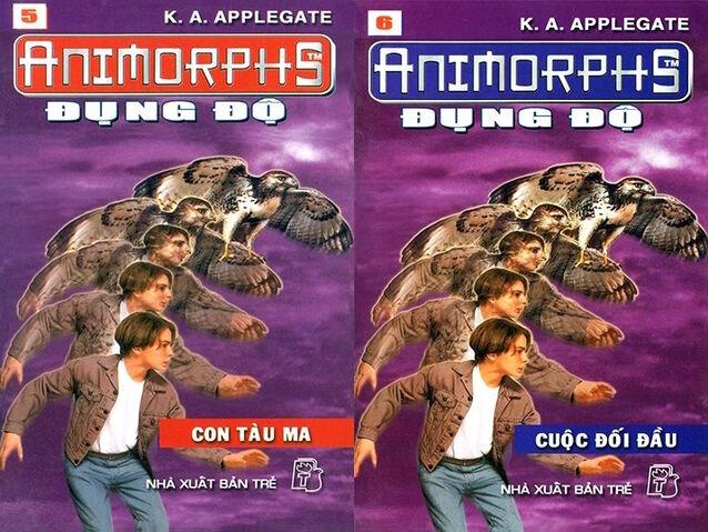 File:Animorphs 3 the encounter Đụng độ vietnamese covers books 5 and 6.jpg
