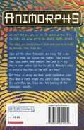 Animorphs 6 the capture UK back cover later