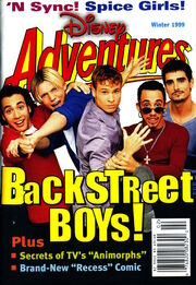 3 v9 Disney Adventures magazine cover Winter 1999 Backstreet Boys