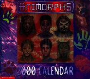 2000 calendar cover with screen - mostly animal