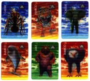 The invasion game all 6 animal morph cards