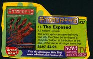 Animorphs 27 the exposed book orders ad