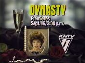 KNTV-TV's Dynasty Video Promo For Late Monday Afternoon, September 16, 1985
