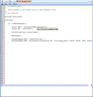 Neverwinter Nights 2 Script Editor