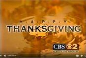 KCBS-TV's Happy Thanksgiving Video ID - Late November 1999