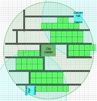 Houses early planned layout