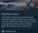 Novikov Crater