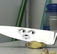 Knife and ginger