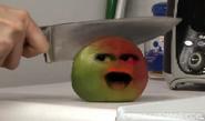 Mango being knifed