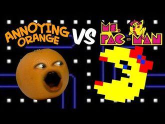 Annoying Orange vs Ms. Pac-Man