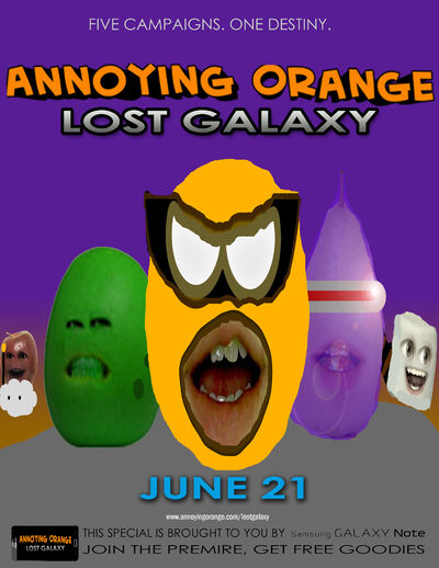 Annoying orange lost galaxy poster 4