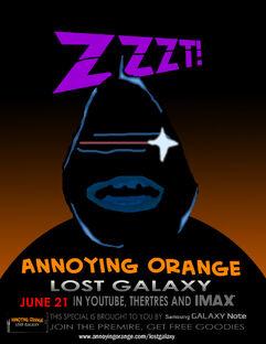 Annoying orange lost galaxy poster 6