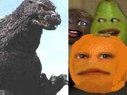 Annoying Orange Meets Godzilla