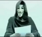 Anonymous giving a message