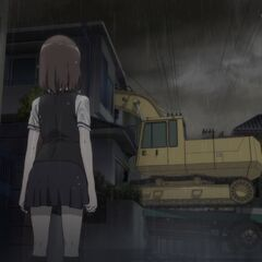 Yumi comes home to find the excavator has plowed through her brother's room.