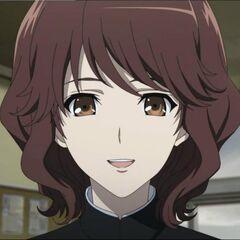 Makoto smiles while talking to Kouichi at the beginning.