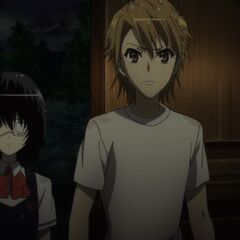 Naoya and Mei at the inn.
