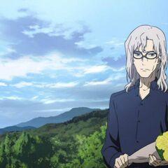 Chibiki brings flowers to Mikami's headstone.