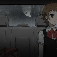 A sad Aya leaves Yomiyama for the last time.